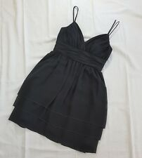 Calvin Klein Dress Chiffon Overlay Baby Doll Spaghetti Strap Gray Size 4