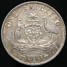 More details for 1915 h | australia george v one shilling 'key date' | silver | coins | km coins
