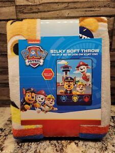 "Paw Patrol Silly Soft Throw, Soft & Cuddly Blanket 40"" x 50"", Warm NEW"