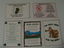 Set of 5 Humorous Irish Postcards unused