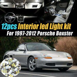 12Pc Super White Car Interior LED Light Bulb Kit for 1997-2012 Porsche Boxster