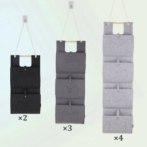 faltbare doppelseitige Aufbewahrung 32 Taschen f/ür Schrankmastwand white Wandtasche Schmuck-Organizer h/ängende Schrankaufbewahrungstasche