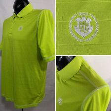 Antigua Mens Polo Shirt L Green Golf Performance Wicking Desert Dry Polyester
