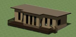 Modern Style House Plans Model  778 Sq.Ft. with Energy- Saving Checklist