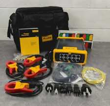 Fluke 1750 3 Phase Power Quality Logger Power In Case and Accessories