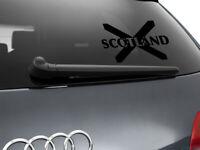 Scotland Flag Car Sticker Styling Decal Scottish Flag, Black