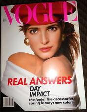 Vogue 3/1988 Stephanie Seymour Linda Evangelista Faye Dunaway Plus Size Models