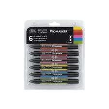 Winsor & Newton ProMarker Set - 6 Vibrant Tones