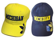 adidas Michigan Wolverines Slope Flexfit Cap, Choose Hat Size and Color