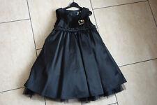 festliches H&M Kleid Hello Kitty Gr. 116 schwarz Satin Einschulung Hochzeit