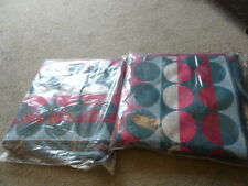 2 Margo Selby bath towels multicoloured circles pattern BN