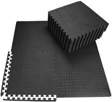 Black Large 60cm EVA Foam Floor Mat Gym Yoga Exercise exercise Play Tiles Mats