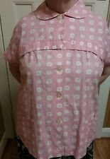 1961 pink and white matetnity top.A graciella presentation.All cotton.Size xw