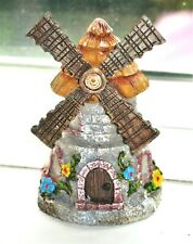 Mini Fairy Garden Windmill Miniature Building Figurine Elf Village Wind Mill