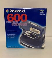 Polaroid 600 OneStep Express Instant Film Camera - Silver and Black - Untested