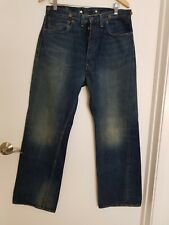 Vintage Levis 501 XX Strauss & Co Button Fly Selvedge W34 L32