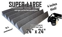 SUPER-LARGE 4 inch thick 24x24 wedge Soundproofing Studio Foam Acoustic Panel