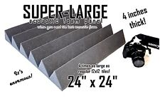 Acoustic Foam 4 inch thick 24x24 inch wedge for recording studio or echoey rooms