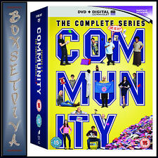 COMMUNITY - COMPLETE SERIES - SEASONS 1 2 3 4 5 & 6  **BRAND NEW DVD BOXSET***