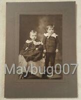Vintage Antique Cabinet Photograph Pierce City, Missouri children boys