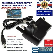 UK 9V AC/DC Power Supply Adapter Plug Compatible For Arduino Uno REV 3 R3 Tested