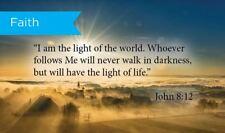 Pass Along Scripture Cards, Faith, John 8:12, Pack 25