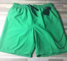 """d6f4d1fc97 $48 Nike Men's Swim Vital 7"""" Volley Shorts Size XL Swoosh Green NWT NESS8503"""