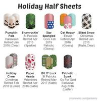Jamberry HALF sheets 🌟 HOLIDAY * ALL SEASONS - Sparkle - Unicorns - Clear