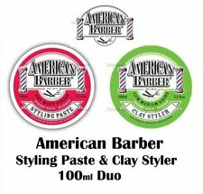 American Barber Styling Paste & Clay Styler 100ml Duo