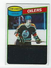 1980-81 Topps #182 Wayne Gretzky Team Leaders (unscratched)