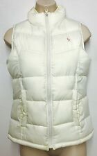 OLD NAVY Girl's Quilted Vest Coat Jacket XL Solid White Full Zip 100% Polyester