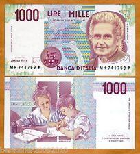 ITALY 1000 LIRE UNC # 630