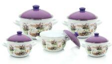 Vintage Deltis Bowls w Spouts Portugal Set of 3 Nesting Style Heavy Ceramic