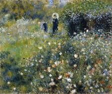 Auguste Renoir Femme avec parasol dans un Giclee Canvas Print Paintings Poster R