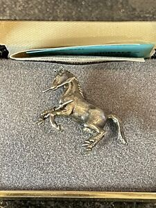 Vintage Sid Bell COLT Firearms Rampant Colt Sterling Silver Tie Tack/Hat Pin NIB
