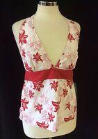 TRESPASS Ladies Womens Floral Print Halterneck Cami Vest Top Size XS S M L XL