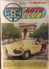 AUTO CLUB SUPPLEMENTO ALBI DELL INTREPIDO N.819 1961 CADILLAC VALKYRIA