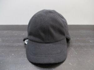 LL Bean Hat Cap Fitted Mens Medium Black Fleece Ear Flaps Winter Outdoors Mens