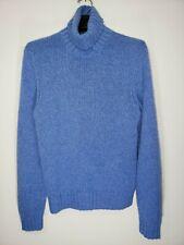 POLO RALPH LAUREN Men's L Solid Blue CASHMERE Knit Pullover Style Sweater EUC