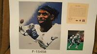 Deion Sanders Dallas Cowboys NFL 11x14 Print HOF Falcons Reds Braves