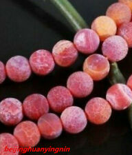 "hot 9 Colour 14"" Dream Fire Dragon Veins Agate Gems Loose Beads 6-8-10mm"