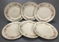 """Set of 6 VTG Homer Laughlin Georgian Eggshell Pattern 9"""" Dinner Plates #1 AA"""
