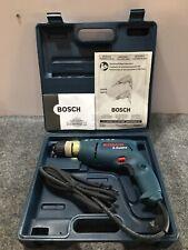 "Used w/ Case Bosch Model 1005VSR 3/8"" Keyless Corded Drill, 5.5 Amps"