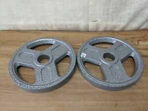 """WEIDER Weight Pair Plates 25 lbs (50 lbs total) for Olympic 2"""" Hole Barbell"""