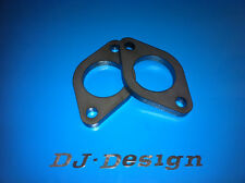 """2"""" Universal Exhaust Flange with 92mm hole centres 10mm thick mild steel 2pk New"""