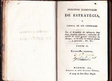 Principios Elementales de Estrategia Cisneros Madrid 1817 Extremely RARE NR!