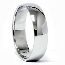 SOLID PALLADIUM ( Platinum group metal) 6 MM WIDE DOME MEN'S WEDDING BAND RING