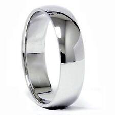 SOLID PALLADIUM ( Platinum group metal) 6 MM WIDE DOME MEN'S WEDDING BAND RING