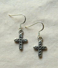 New BRIGHTON Eternity Cross 'FAITH' charms custom .925 earrings  FREE SHIPPING !