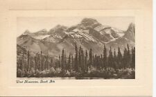Canada, Wind mountans, Banff, Alberta. Vintage Postcard.